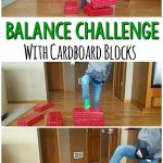 Balance Challenge Using Cardboard Blocks