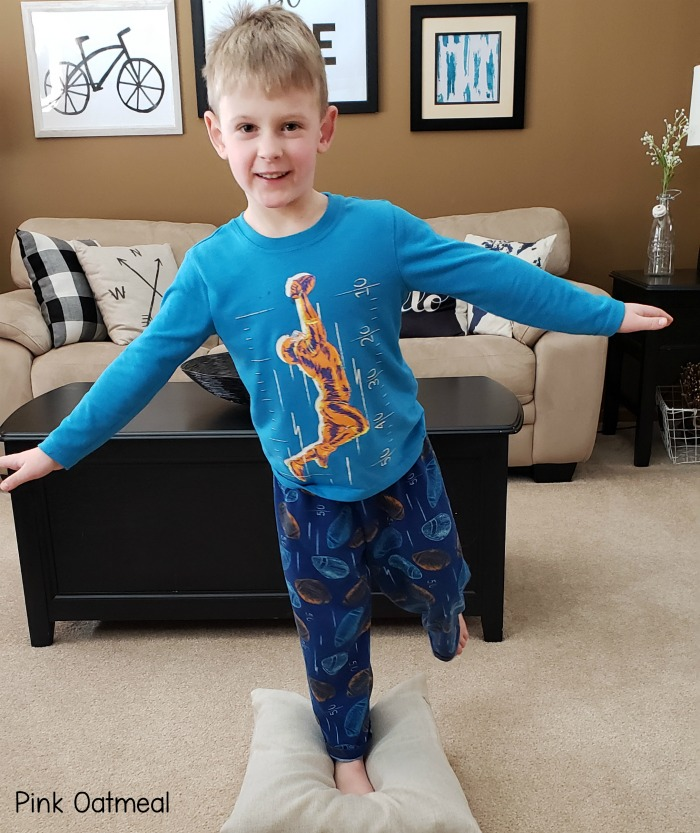 Balance Exercises For Kids - Standing on an unstable surface.