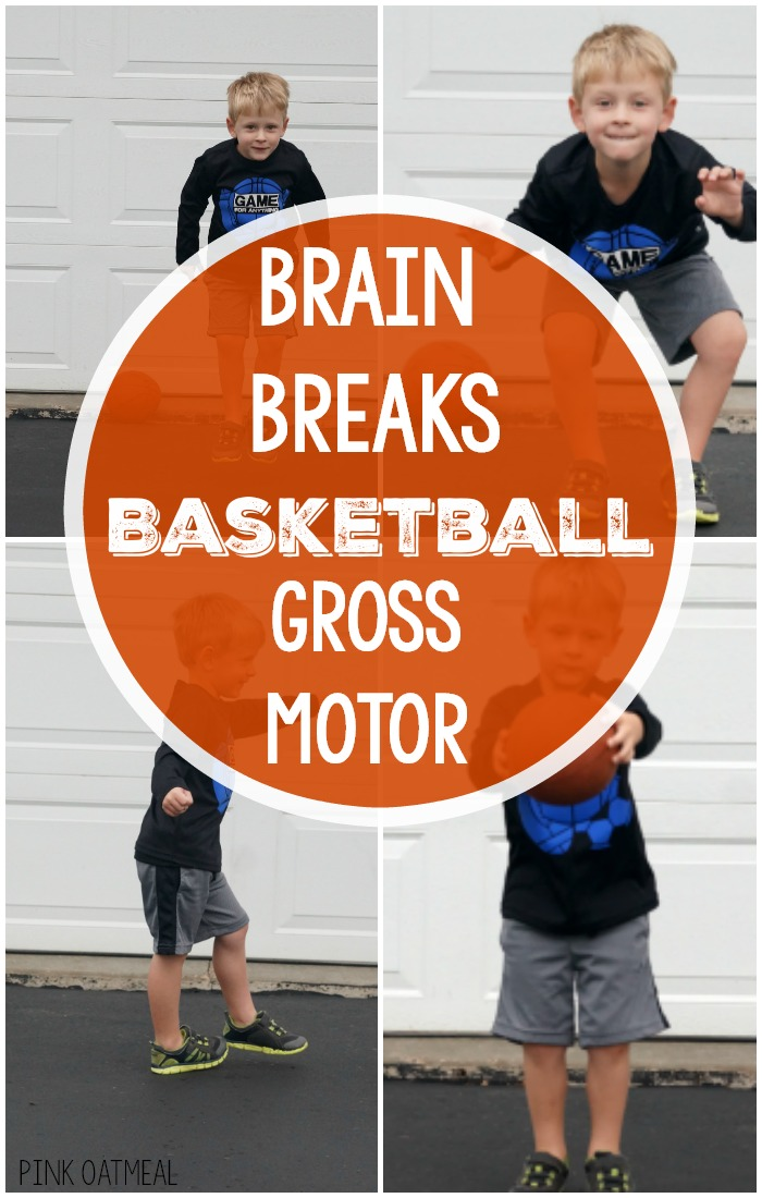 Basketball Themed Gross Motor and Brain Break Ideas