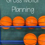 Basketball gross motor planning ideas. Fun activities for basketball season, March Madness, or tournament time. All these basketball themed activities have physical activity in mind! Great for your basketball activities or March Madness activities!