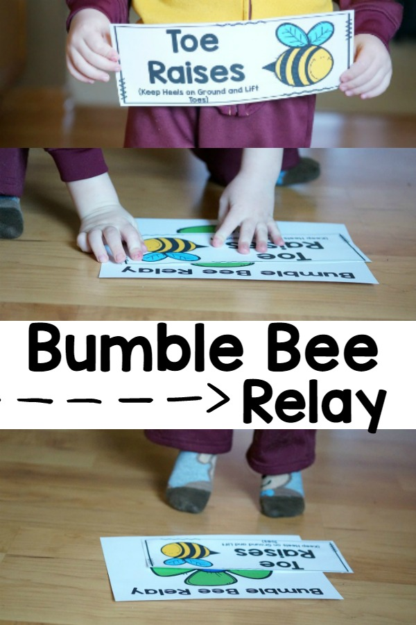Spring Gross Motor Game - The Bumble Bee Relay. Great for adding movement with a Spring Theme!