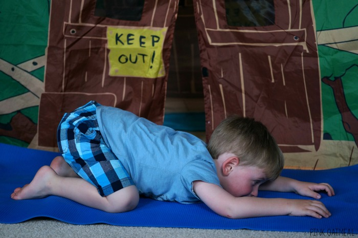 Camping Themed Yoga Pose Ideas