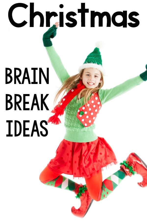 Christmas Brain Breaks.  A list of fast, fun, and efficient ways to move your body with a Christmas or Holiday theme.  Each brain break is designed to last under a minute and only needs a small amount of space!