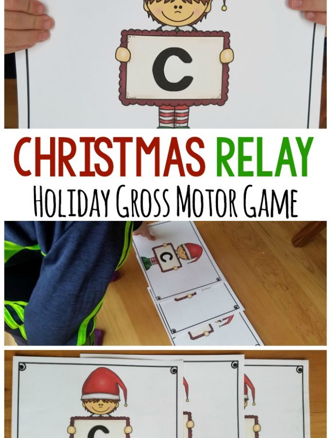 Holiday Gross Motor. The Christmas Relay is perfect for Christmas gross motor. A fun game for all ages and a great way to incorporate physical activity into the day! #grossmotor #holiday #preschool
