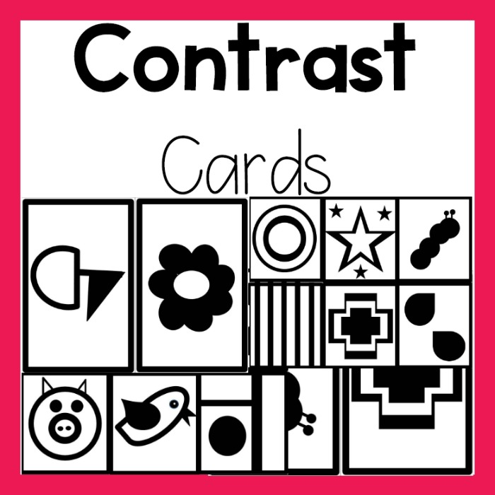 Contrast Cards Board For Baby Pink Oatmeal