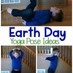 Earth Day Yoga Pose Ideas! I love the reduce, reuse, recycle pose!