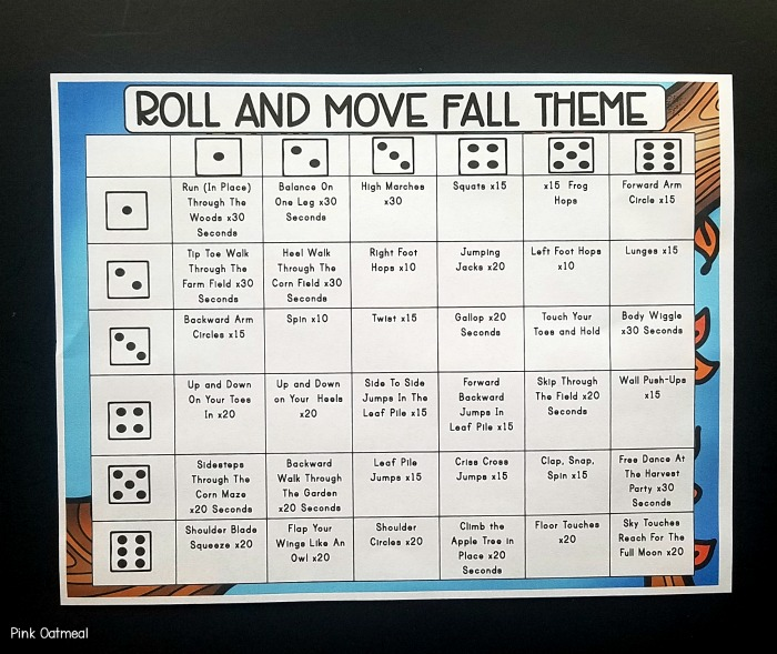 Fall Themed Motor Planning Fine Motor And Gross Motor