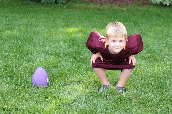 Football activities! These football movement and physical activity ideas are perfect for a classroom, preschool gross motor, physical education, PT, OT, or SLP. The football theme makes it fun for fall or autumn gross motor and brain break ideas! They also are a great addition to the Super Bowl. The kids love them year round!