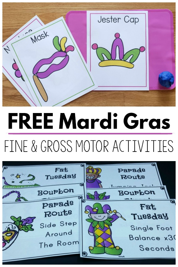 Mardi Gras Fine Motor and Gross Motor Activities