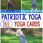 Patriotic themed yoga/movement ideas! I love that you can get FREE yoga cards as well! They would be perfect for Memorial Day, Labor Day, Fourth of July and more!