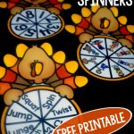 Free Thanksgiving Printables – Thanksgiving Themed Spin A Move
