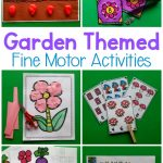 Garden themed fine motor activities. These are great for preschool fine motor activities, kindergarten stations, morning work. Use this pack as an occupational therapy intervention! #finemotor #preschool #preschoolfinemotor #occupationaltherapy #occupationaltherapyintervention
