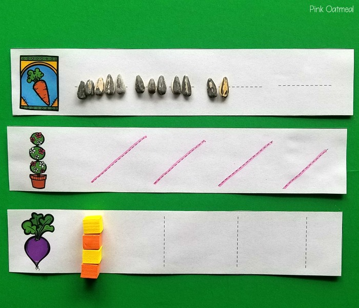 Garden fine motor activities. Pre-writing strokes.