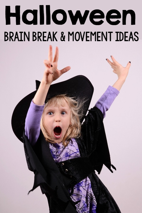 Halloween Brain Breaks, Halloween Movement, and Halloween Gross Motor Ideas! Perfect for home, therapy, or the classroom.