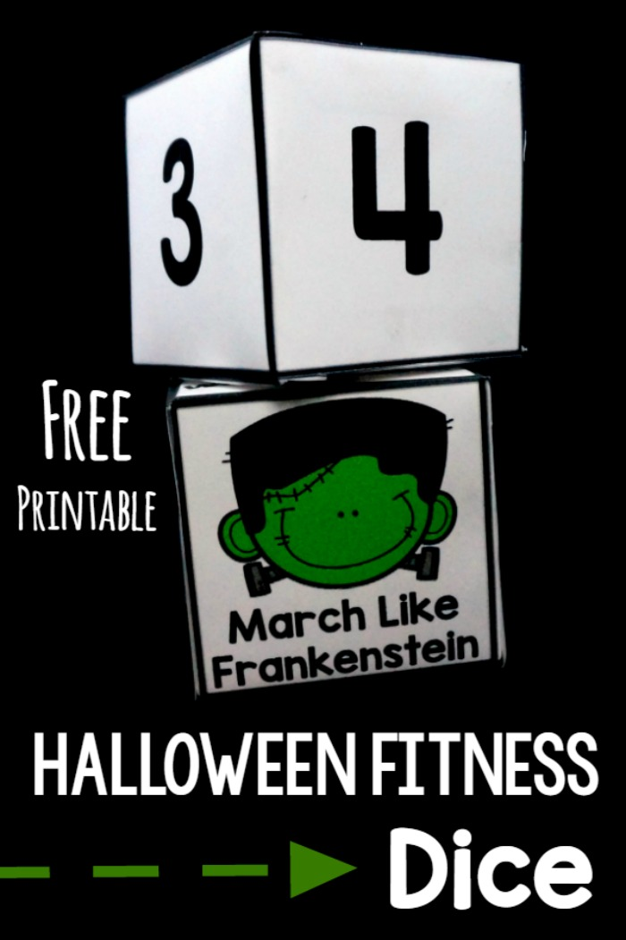 Halloween Gross Motor. Fitness dice are perfect for home, school, or therapy. Get your free printable today!