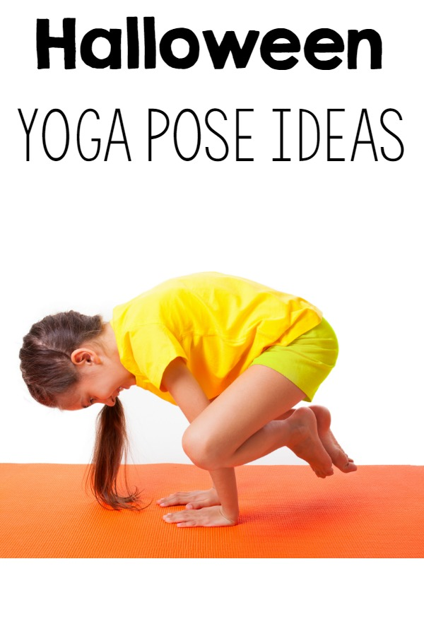 Fun kids yoga pose ideas with a Halloween Theme!