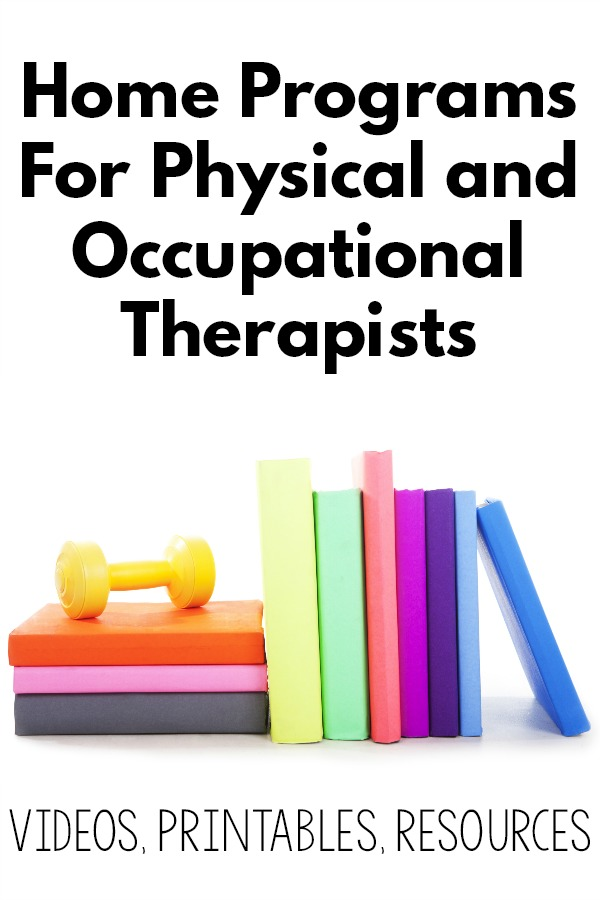 Home Programs For Physical and Occupational Therapists