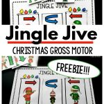 Christmas Gross Motor Game. The jingle jive is the perfect way to work on movement and motor planning during the holiday season. The best part is this is a free Christmas printable game for kids! Have fun changing up your dance and working on motor planning with this Christmas gross motor game!