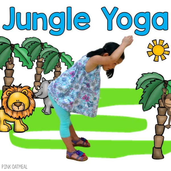 Jungle yoga is perfect for brain breaks for the classroom, therapy, in conjunction with a jungle unit or a jungle theme.  Use these at home with your animal lover!