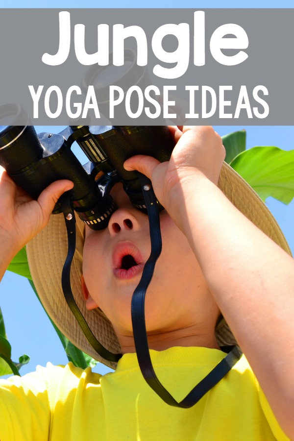 Jungle yoga pose ideas. Perfect for kids yoga! I can't wait to use these!
