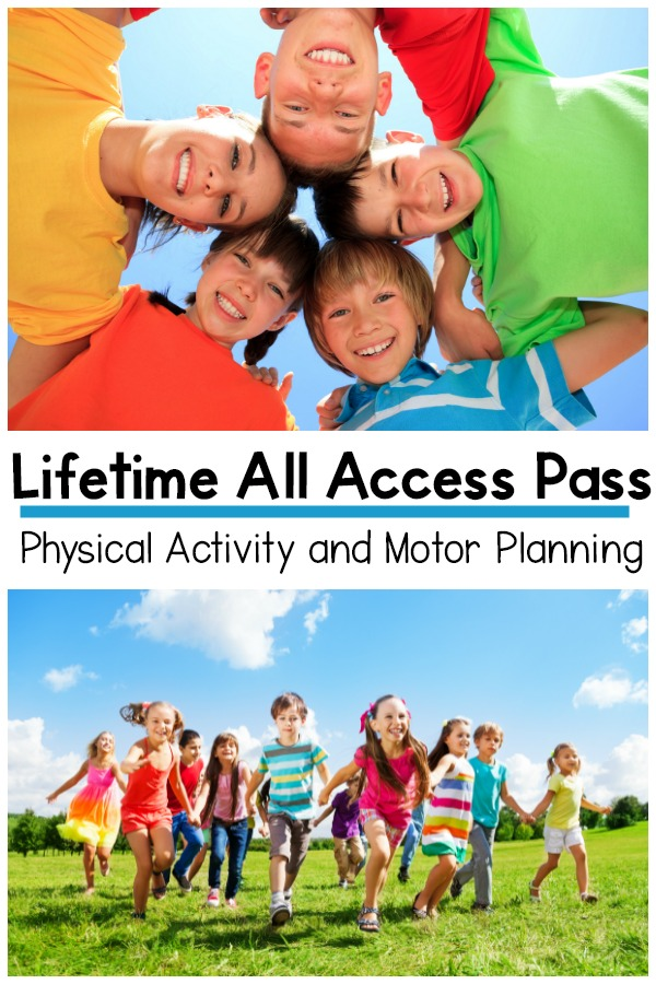 Physical Activity and Gross Motor Planning All Access Pass - Everything you need for gross motor, fine motor, and physical activity for your classroom, therapies or home. No need to scour the Internet looking for ideas. Everything you need is one one place and you get it all!