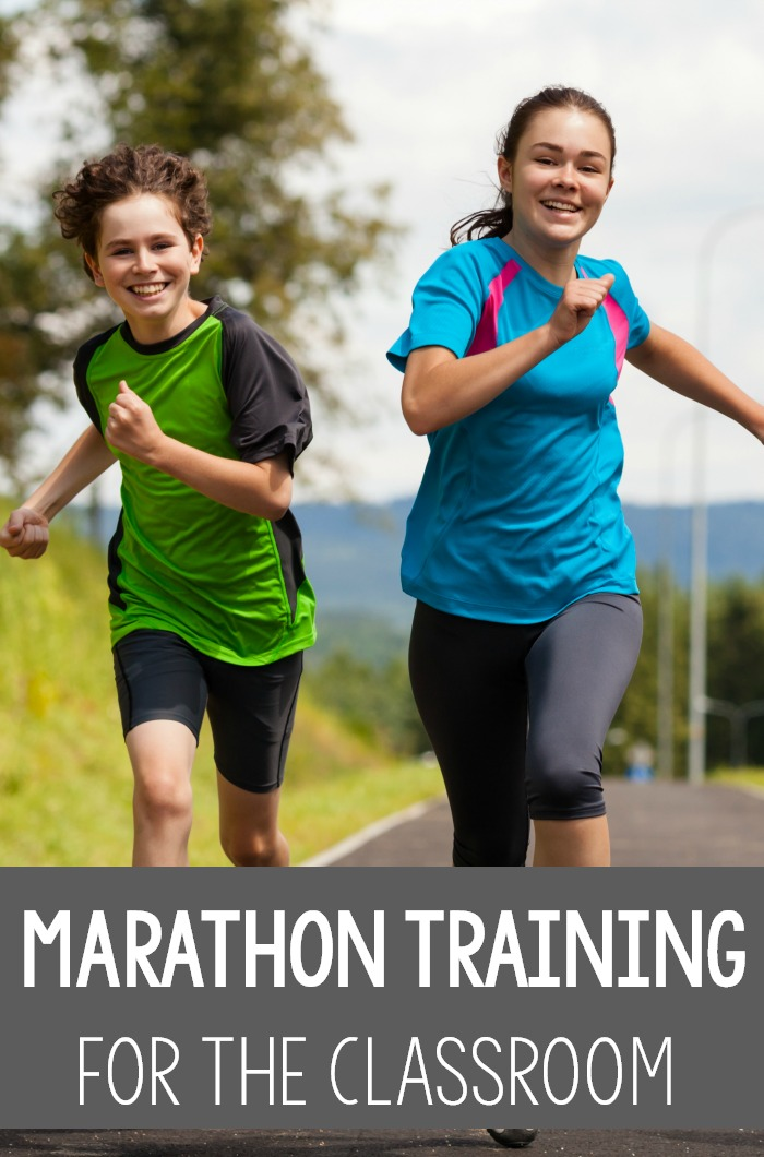 Incorporating marathons into the classroom is a great idea for class fitness or brain breaks! This could be done in intervals of 1 mile, 5k, 10k etc. What a great way to make sure that students are getting physical activity each day! #classroomfitness #brainbreak #physicaleducation #physicaltherapy #occuaptionaltherapy