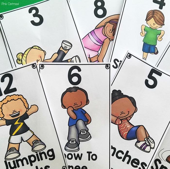 Fun brain breaks for kindergarten and preschool during morning meeting.