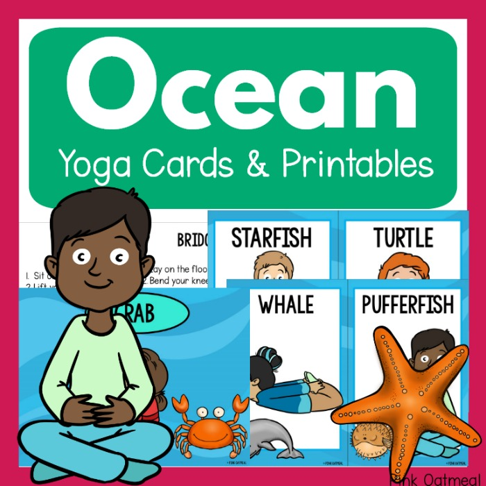 Ocean Themed Yoga Pink Oatmeal