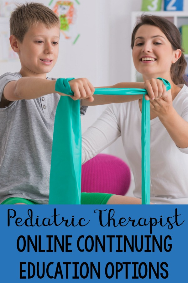 Online continuing education courses for pediatric physical therapists, pediatric occupational therapists, and speech and language pathologist. A collection of different online courses and opportunities for getting your continuing education credits