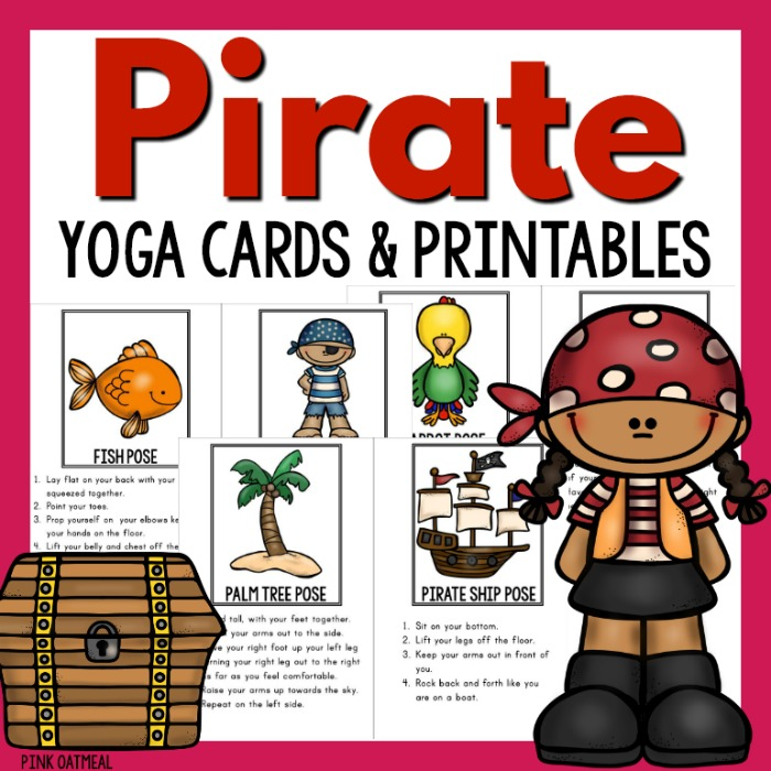 Pirate Theme Brain Breaks And Yoga Pink Oatmeal