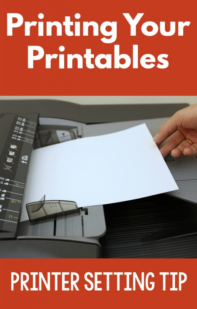 A tip for printing your printables. Setting your pages on your PDF reader.