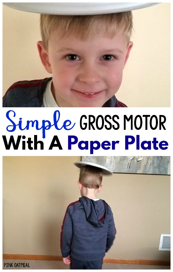 Simple Gross Motor  Game With Paper Plates