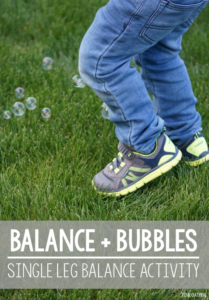 Single Leg Balance Exercise – With Bubbles