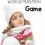 Winter Movement Game - Snowball Relay. A fun way to move with a winter theme. Great for a classroom, therapy, or home.