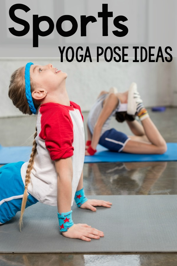 Sports themed yoga pose ideas. This is a fun way to incorporate yoga for your sports lovers. These ideas are perfect for a classroom, brain breaks, physical therapy, occupational therapy, speech therapy, and home!
