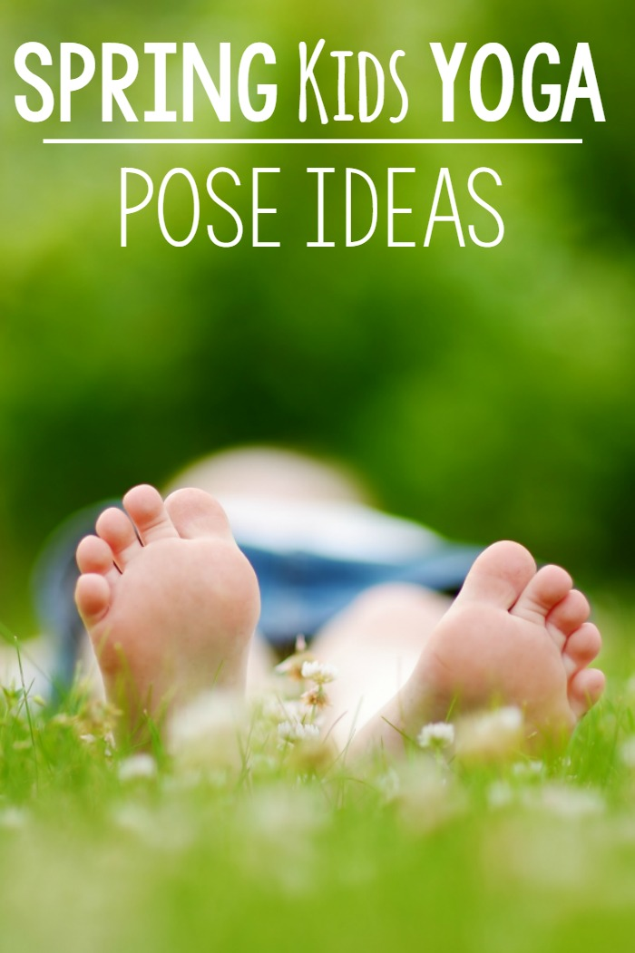 Spring Gross Motor Ideas. Spring themed yoga poses. Pose like a butterfly or bird. Fun poses that are easy for everyone!
