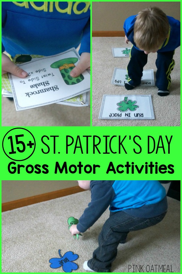 St. Patrick's Day Gross Motor Activities