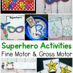 Superhero Activities - Fine motor and gross motor activities with a superhero theme.