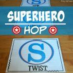 Superhero Activities - Superhero Hop Gross Motor Game