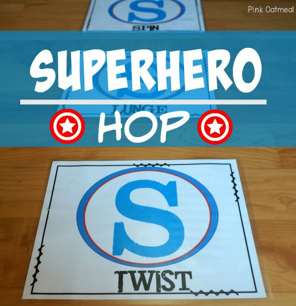 Superhero Activities - Superhero Hop Gross Motor Game