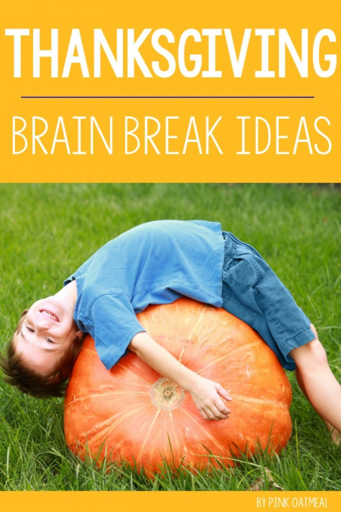 Thanksgiving Gross Motor. Fun ideas for gross motor or brain breaks with a Thanksgiving theme. These ideas are fun, fast and efficient!