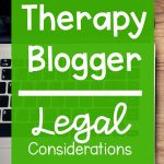 Therapy Blogger Legal Considerations