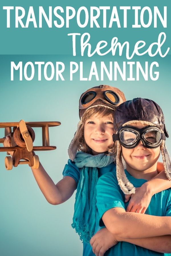 Transportation motor planning ideas. Gross motor transportation ideas and fine motor activities with a transportation theme. Use these ideas for your transportation theme in your classroom, therapy, or at home.