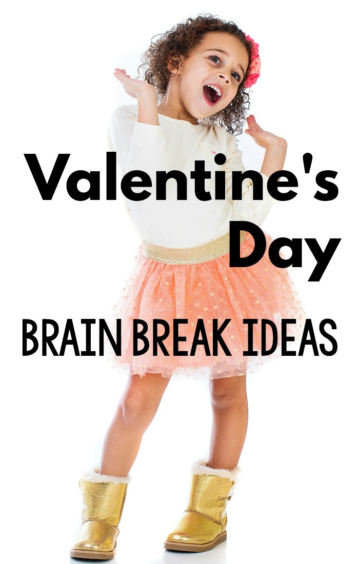 Valentine's Day Activities that promote movement! These fun gross motor and brain break ideas with a Valentine's Day Theme are perfect for the classroom, home or therapy! They are fast, fun, and efficient Valentine's Day themed activities! #Valentinesday #preschool #brainbreaks