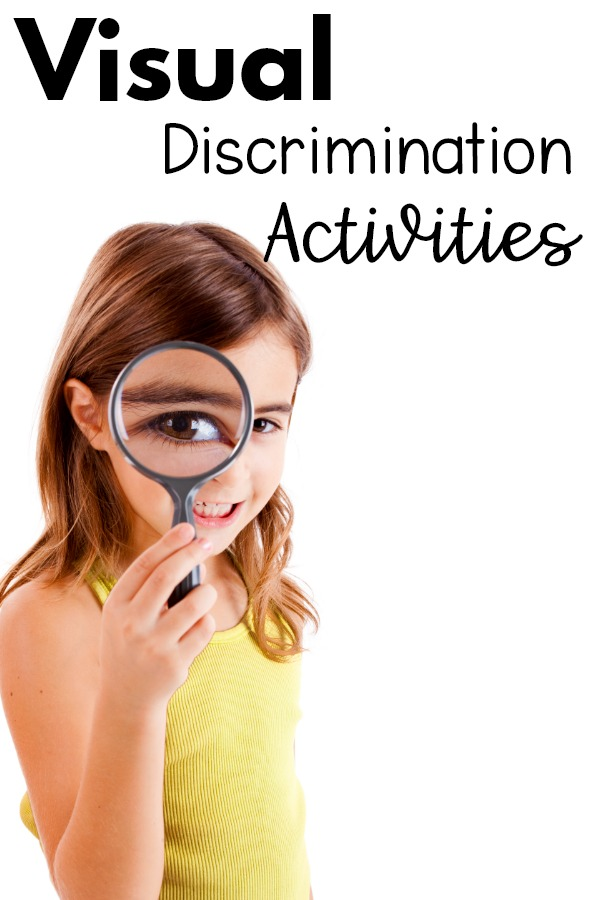 Visual discrimination activities and games!