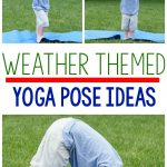 Weather Themed Activities! I love these weather themed yoga/gross motor movement poses for kinesthetic learning! They are great for a brain break! I can't wait to try them for morning meeting too!