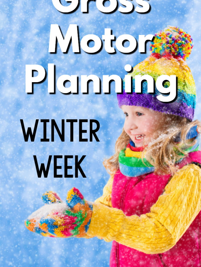 Winter Gross Motor Planning - Winter gross motor activities that are perfect for a winter themed week. Perfect for preschool gross motor programming, physical education, physical therapists, occupational therapists, and speech therapists.