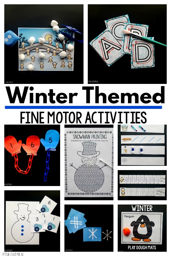 Winter themed fine motor activities that you can use today!