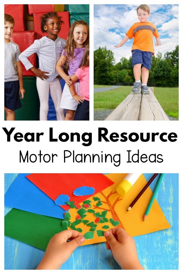 Year Long Resources for Gross Motor and Fine Motor Planning