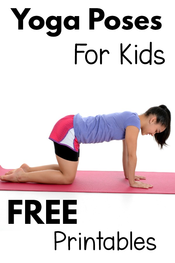 Yoga Poses For Kids Printable Free Pink Oatmeal